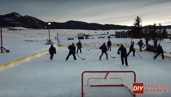 maintaining outdoor rink