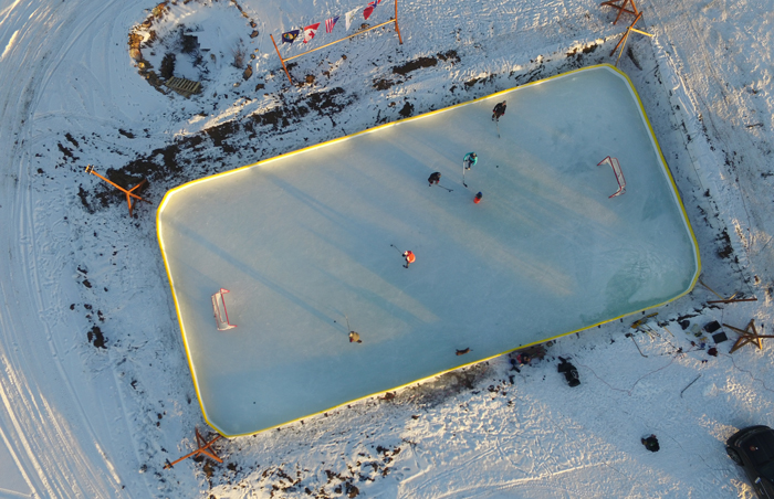 best outdoor hockey rinks in Montana