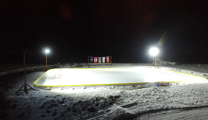 hockey rink lights diy pete