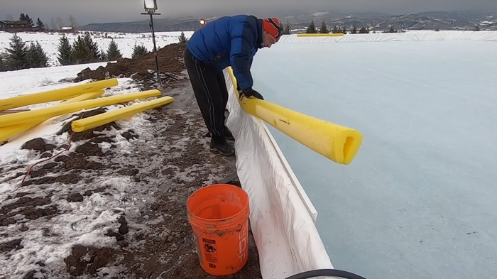 how to protect hockey rink liner
