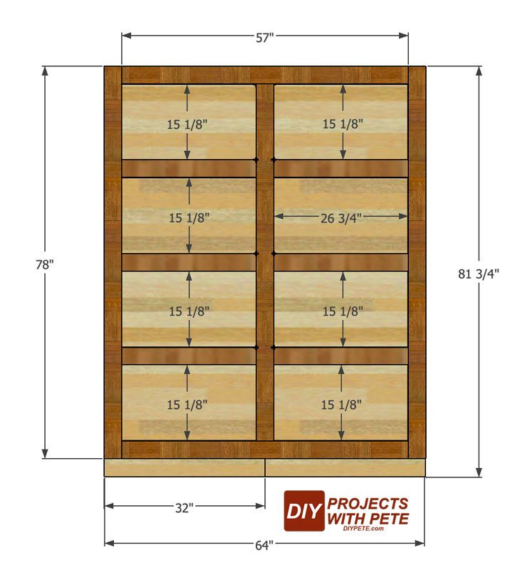 Trim plans for a murphy bed