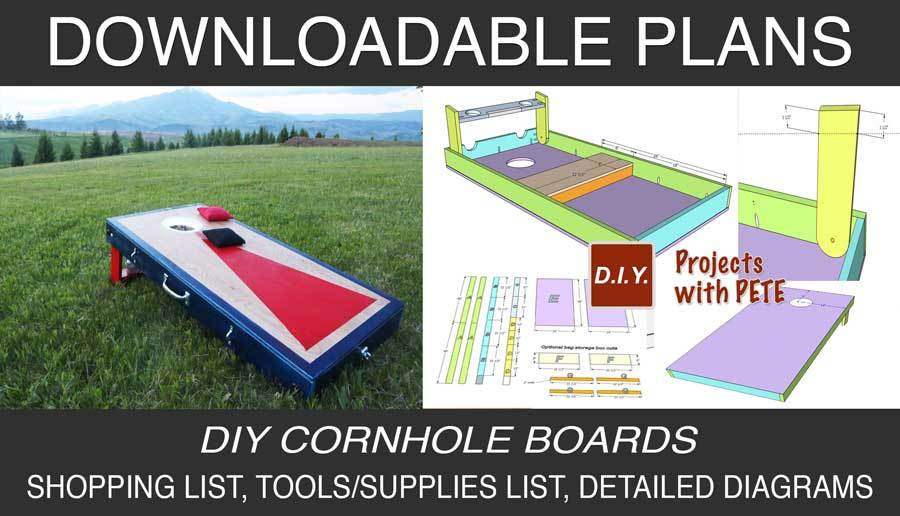 Downloadable cornhole board Plans