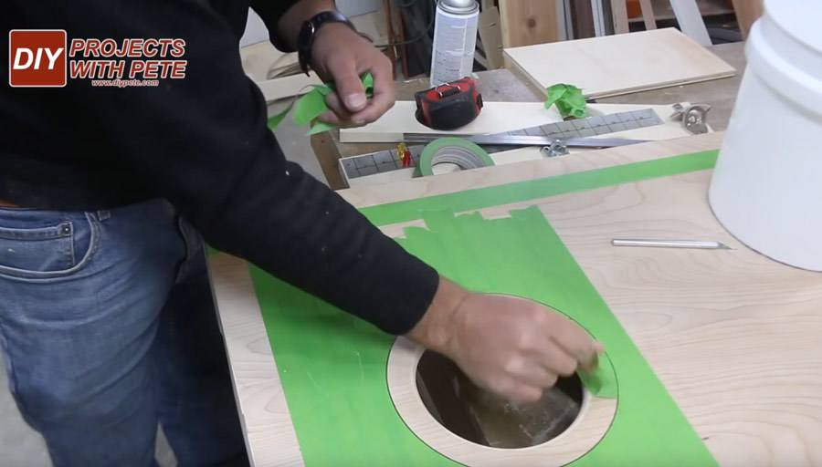 how to make a ring stencil for cornhole