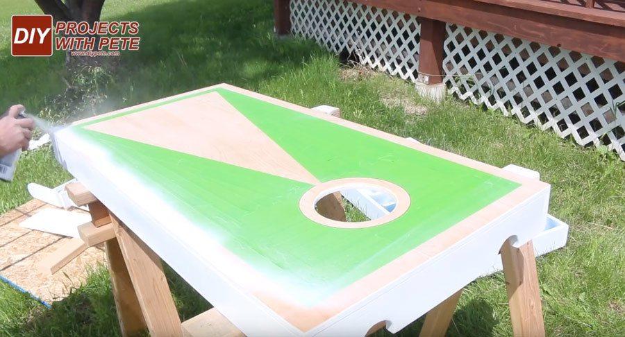 Making cornhole board stencils