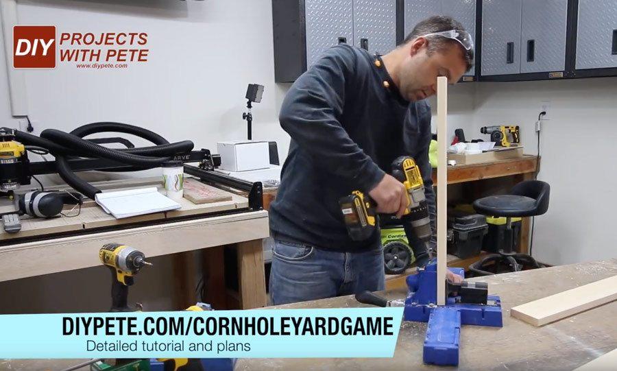 pocket holes for cornhole boards