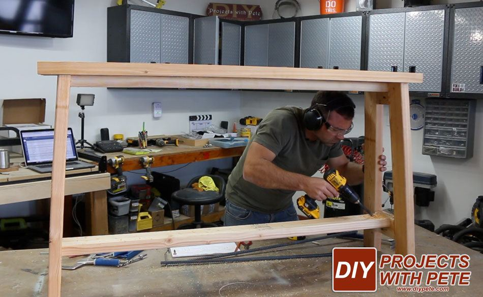 making a sofa table