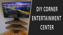 Corner entertainment center