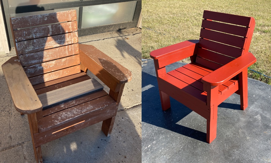 diy patio chair how to refinish outdoor furniture