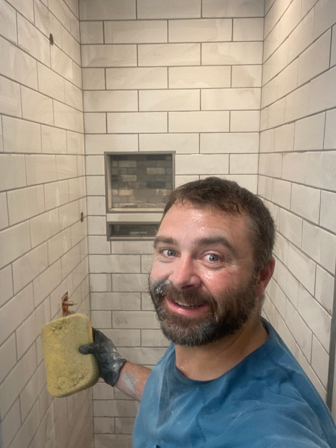 tiling a small bathroom shower