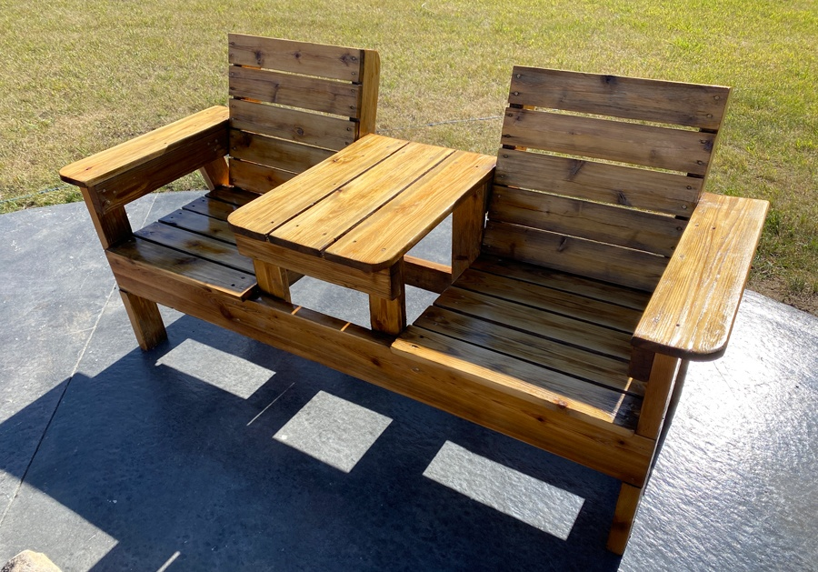 How to spray outdoor furniture