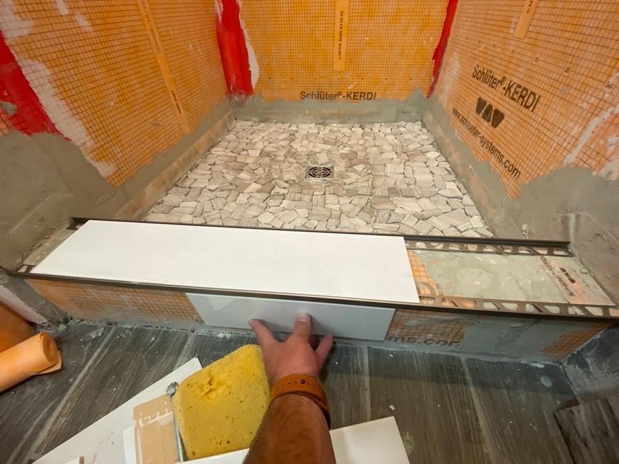 shower curb ideas for small bathroom