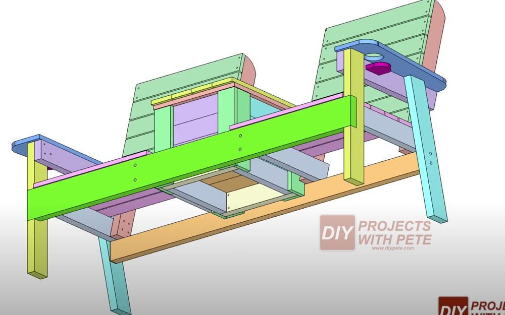 DIY double chair plans