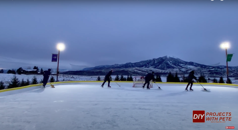 DIY Projects with Pete Backyard Hockey Rink Shovelers