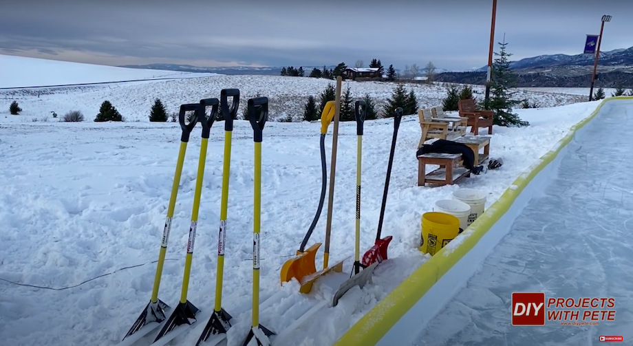 Outdoor ice rink shovel collection