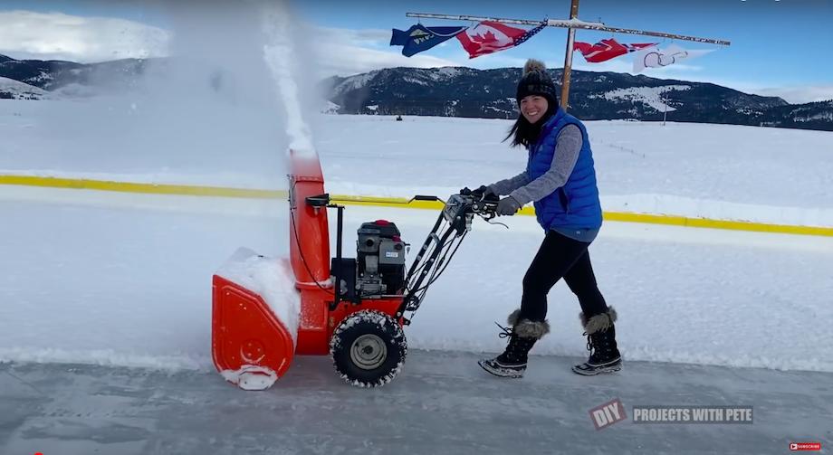 DIY Projects with Pete Backyard Hockey Rink Walk behind Snowblower
