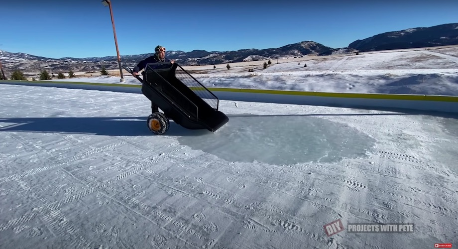 """Using the """"bucket dump"""" method to troubleshoot and smooth out bumpy ice"""
