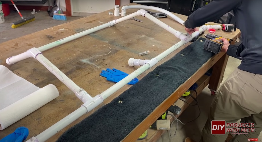 PVC pipe ice resurfacer