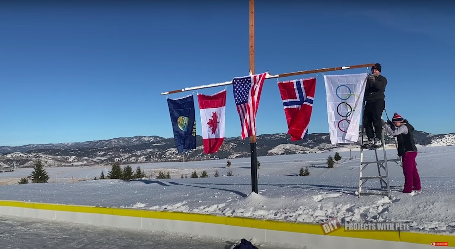 National flags on our rink