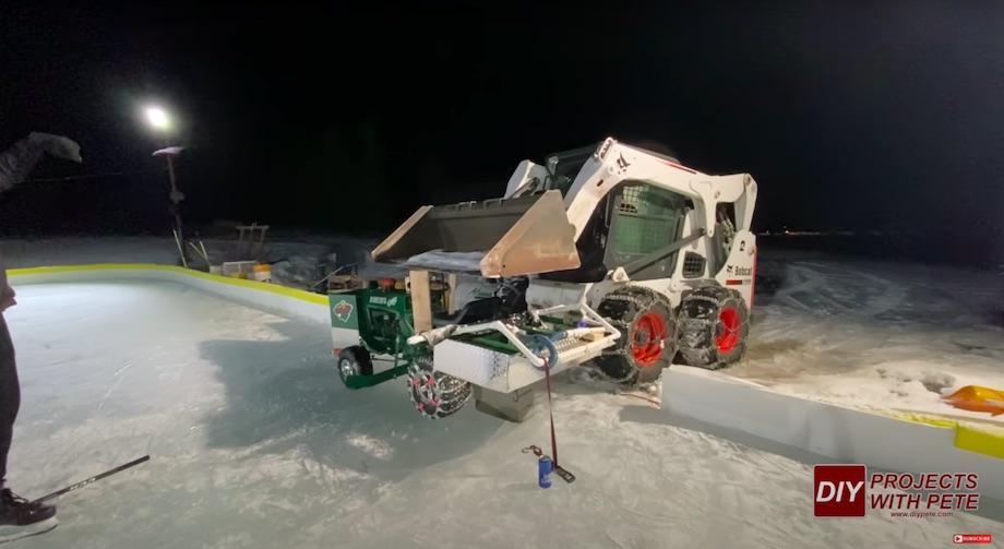 Skid steer bending bent tractor frame back to straight