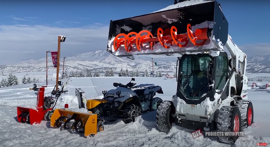 Snowblowers of three different sizes
