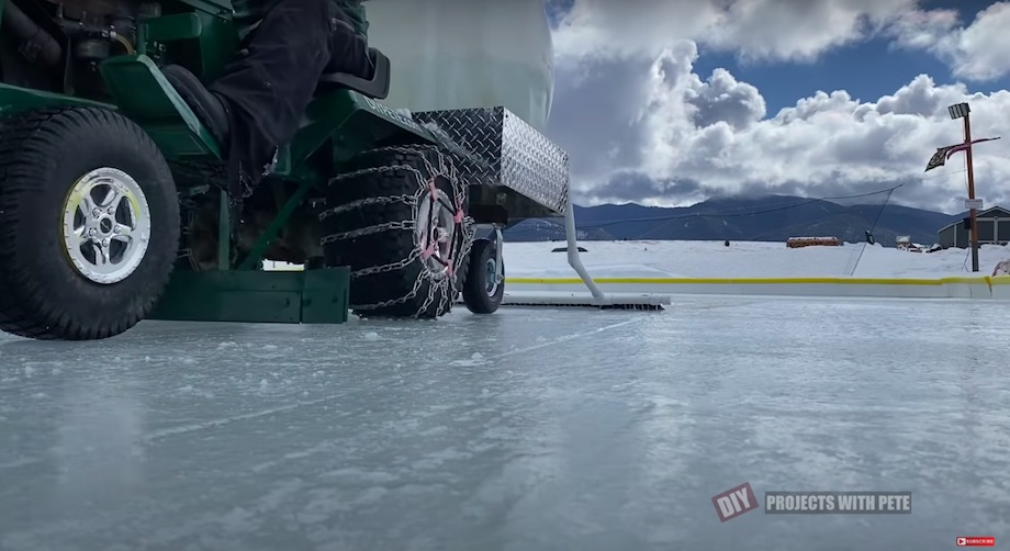 DIY Zamboni ice resurfacer close up