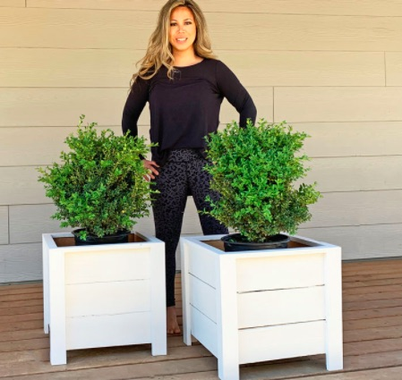 Ana White with planters