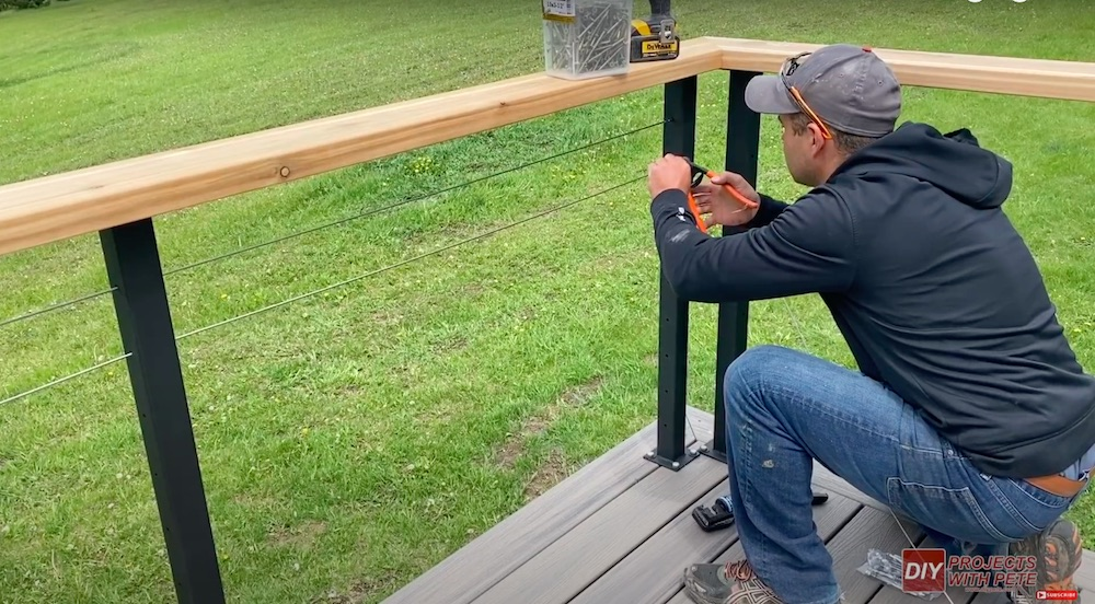 DIY Projects with Pete Cable Railing for Deck