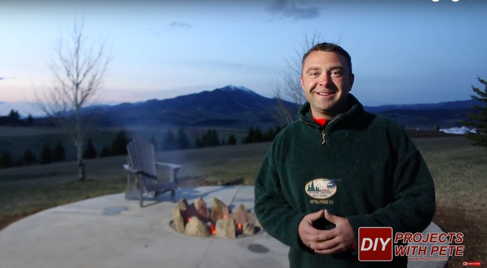 DIY Projects with Pete Round fireplace concrete pad