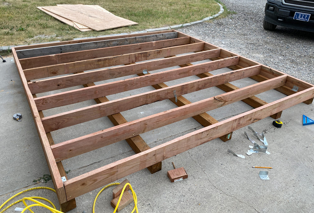 how to build a shed with skids